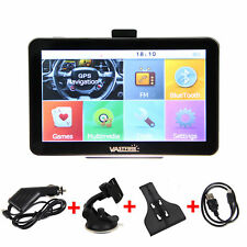"7"" Car Truck 4GB GPS Bluetooth Navigation Navigator Wire Rear View Camera Map"