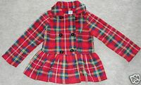 Girls Jacket Plaid Fleece Mack & Co Red Blue Coat NEW Top 6