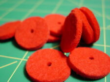 Bag of 10 Thick Red Sewing Machine Spool Pin Felts Pads