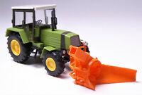 H0 BUSCH Traktor Fortschritt ZT 323 Schneefräse ASS 02 Winterdienst DDR # 50419