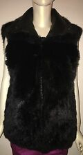 Andrew Marc Opossum Fur Vest Black S/P
