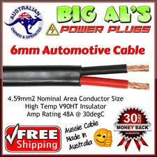 5 metre x 6mm Twin Core, Sheath Automotive Dual Battery Cable Wire Trailer 4x4