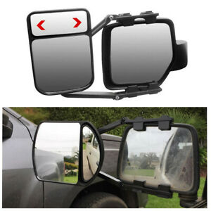 Clip-on Car Truck Van Trailer Towing Side View Mirror Extension Adjustable 2Pcs