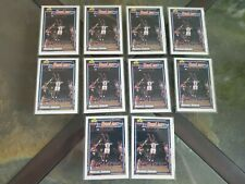 (10) MICHAEL JORDAN 1991-92 Topps Bulls Card #3 Highlight 91 Chicago LOT