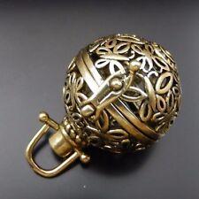 39680 Antiqued Bronze Hollwed Lockets Harmony Bal Wings Pendants 2Pcs