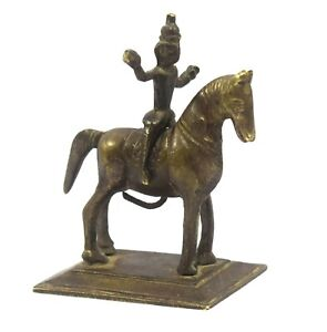 Vintage Collectible Indian Hand Crafted Warrior Horse Ridding Figure. G7-712