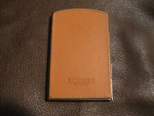 Mens ETTINGER Business Card Holder-Tan Calfskin-Very Nice Condition!