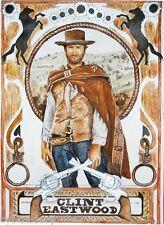 Clint Eastwood Good Bad Ugly Refrigerator / Tool Box Magnet Man Cave Room