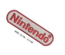 Nintendo Game Logo Embroidered Iron- Sew On Patch super Mario  UK SELLER