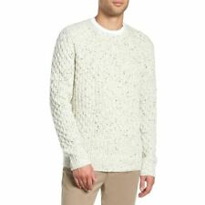 VINCE. Men's Cable Knit Wool Sweater Off-White XXL - NEW Style: M54526817