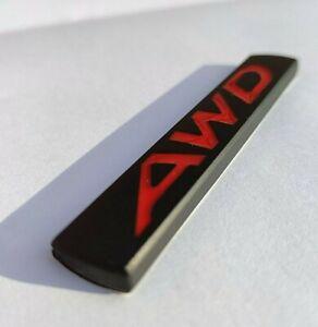 Schwarz Rot AWD Metall Chrom Plakette Für Ssangyong Rexton Korando Musso Tivoli
