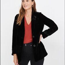 Madewell Dorset Velvet Blazer Size S Small Women True Black NWT NEW