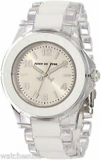 Juicy Couture Womens Rich Girl Clear Bracelet White Silicone Inlay Watch 1900866