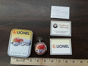 Lionel Santa Fe Super Chief Train Pocket Watch With Tin Needs Battery