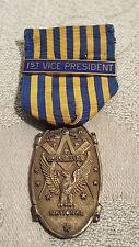 Masonic 1st National V. President Sojourner gold over Sterling medal