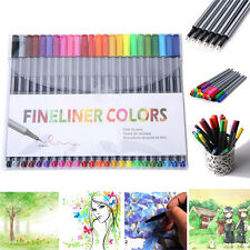 24 Color 0.4mm Fineliner Pen Set Fine Liner Colouring Fineliners Assorted Colour
