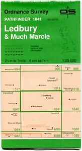 UK ORDNANCE SURVEY Pathfinder (1:25000) Map 1041 - Ledbury & Much Marcle