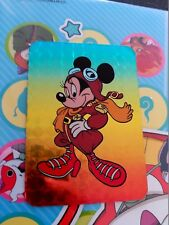 disney mickey mouse minnie prism  trading  card