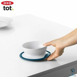 OXO TOT Stick & Stay Suction Bowl - Navy | Toddler Children Kitchenware Mealtime