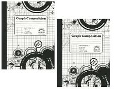 Norcom Graph Composition Book 5 Inch x 5 inch Ruled, 100 Sheets LOT OF TWO (2)