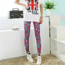 Womens Punk Sexy Funky Stretchy Leggings Tight Pencil Skinny Pick Pants DDK24