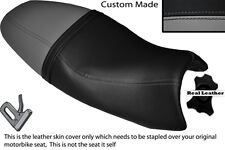 GREY & BLACK CUSTOM FITS TRIUMPH SPEED TRIPLE 08-10 1050 LEATHER SEAT COVER