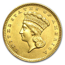 $1 Indian Head Gold Type 3 AU (Random Year) - SKU #23231
