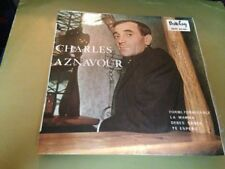 """CHARLES AZNAVOUR - SUNG IN SPANISH 7"""" SINGLE SPAIN EP FORMI FORMIDABLE"""