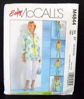 McCalls Pattern #M4844 Misses/Miss Petite Shirt Jacket Top Pants (16-18-20-22)