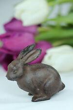 Gusseisen Hase Ostern Metall Figur braun Garten Osterhase