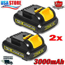 2X 12V Max 3.0AH Lithium Tools DCB127-2 Battery for DeWalt DCB120 DCD710 DCF813