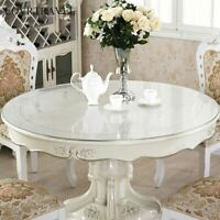 1 Pc Round Transparent PVC Tablecloth Waterproof Kitchen Pattern Oil Table Cover