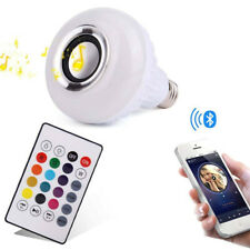 Remote Speaker Lamp Light Music Playing 12W LED Wireless E27 Bulb Bluetooth RGB