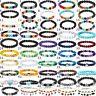 7 Chakra Beaded Healing Natural Lava Stone Bracelets Hematite Diffuser Yoga Gift