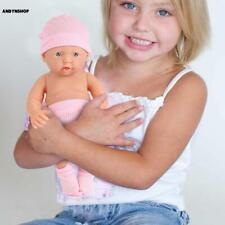 DE reborn Baby Puppe 26cm Lebensecht Handgefertigt Weich Silikon-Vinyl Mädchen