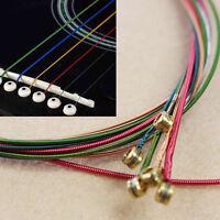 Conjunto de 6pcs arco iris coloridas cadenas de colores para guitarra acúsMN