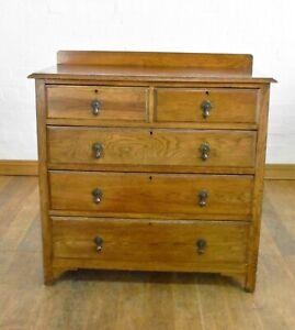 Antique vintage large oak chest of drawers