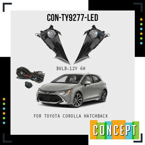 For 2019 2020 2021 Toyota Corolla Hatchback LED  Fog Lights w/Switch Left+Right