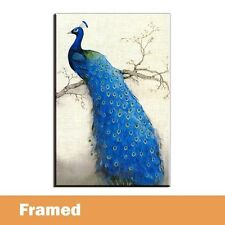 Framed Home Decor Canvas Prints Peacock Picture Modern Wall Art Animal