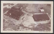 Postcard BUTLER PA  Graham Air Field Airport Bird's Eye Aerial view 1930's
