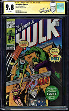 INCREDIBLE HULK #138 CGC 9.8 WHITE SS STAN LEE HIGHEST GRADED CGC #0351061002