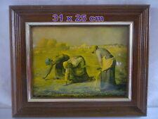 EMAUX sur laque bombé - les glaneuses  31 x 25 cm