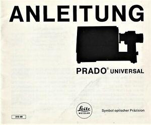 LEITZ PRADO UINIVERSAL ANLEITUNG 24x36 deutsch