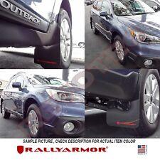 Rally Armor Mud Flaps For 15-19 Subaru Outback Wagon Black w/ Red Logo