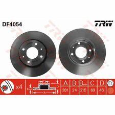 Disco de freno, 1 piezas trw df4054