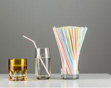 80x Plastic Stripe Retro HA Stripe FOR Party Drinking UC Straws Birthday Wedding