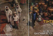 Coupure de presse Clipping 2011 Tintin le retour et chair & en 3D  (6 pages)