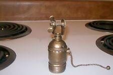 Lamp Part-Metallic Bronze Colored Pull Chain Socket for Bridge Lamp