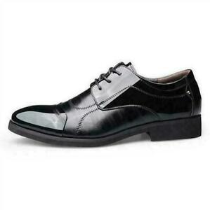 Men Business Shoes Casual Leather Smart Formal Wedding Dress Lace Up Oxfords New