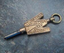 Advertising Pocket Watch Key -  Watts Ltd. , Wholesale Depot of  Bristol , Avon